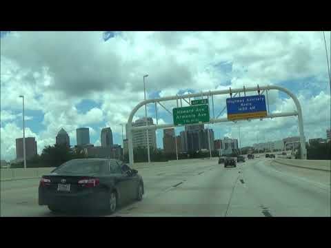 Driving on Interstate 275 S (University, FL to St. Petersburg, FL)