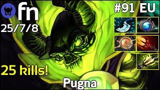 25 kills! fn plays Pugna!!! Dota 2 7.20