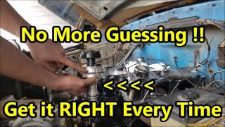 Set Ignition Timing & Install Distributor - TIMING TRICK  (Ford, Chevy, Mopar)