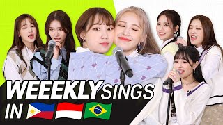 K Pop Stars Sing In Three Languages Tag Ina Por Weeekly Transonglation MP3