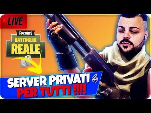 🔴 LIVE FORTNITE SERVER PRIVATI PER TUTTI !!! [Fortnite Battle Royale]