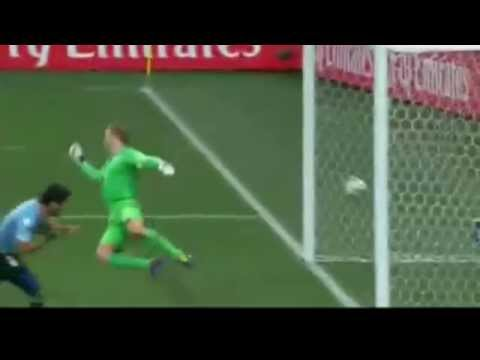 LUIS SUAREZ FIRST GOAL - ENGLAND VS URUGUAY - BRAZIL WORLD 2014