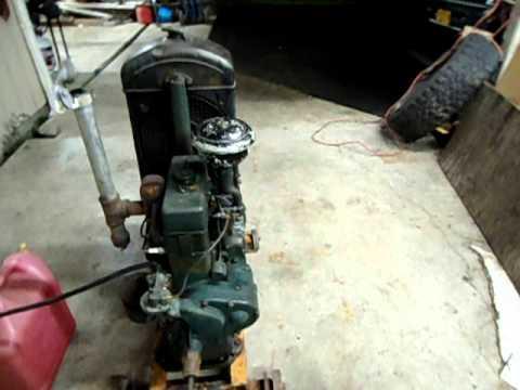 1944 Kohler light plant US ARMY SIGNAL CORPS generator.Cold start ...