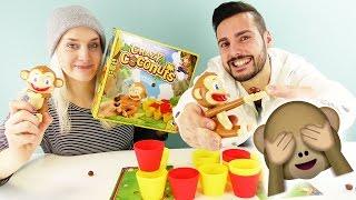 WER HAT DIE KOKOSNUSS GEKLAUT? KAAN, NINA oder AFFE? Crazy Coconut Challenge Deutsch - Spiel mit mir