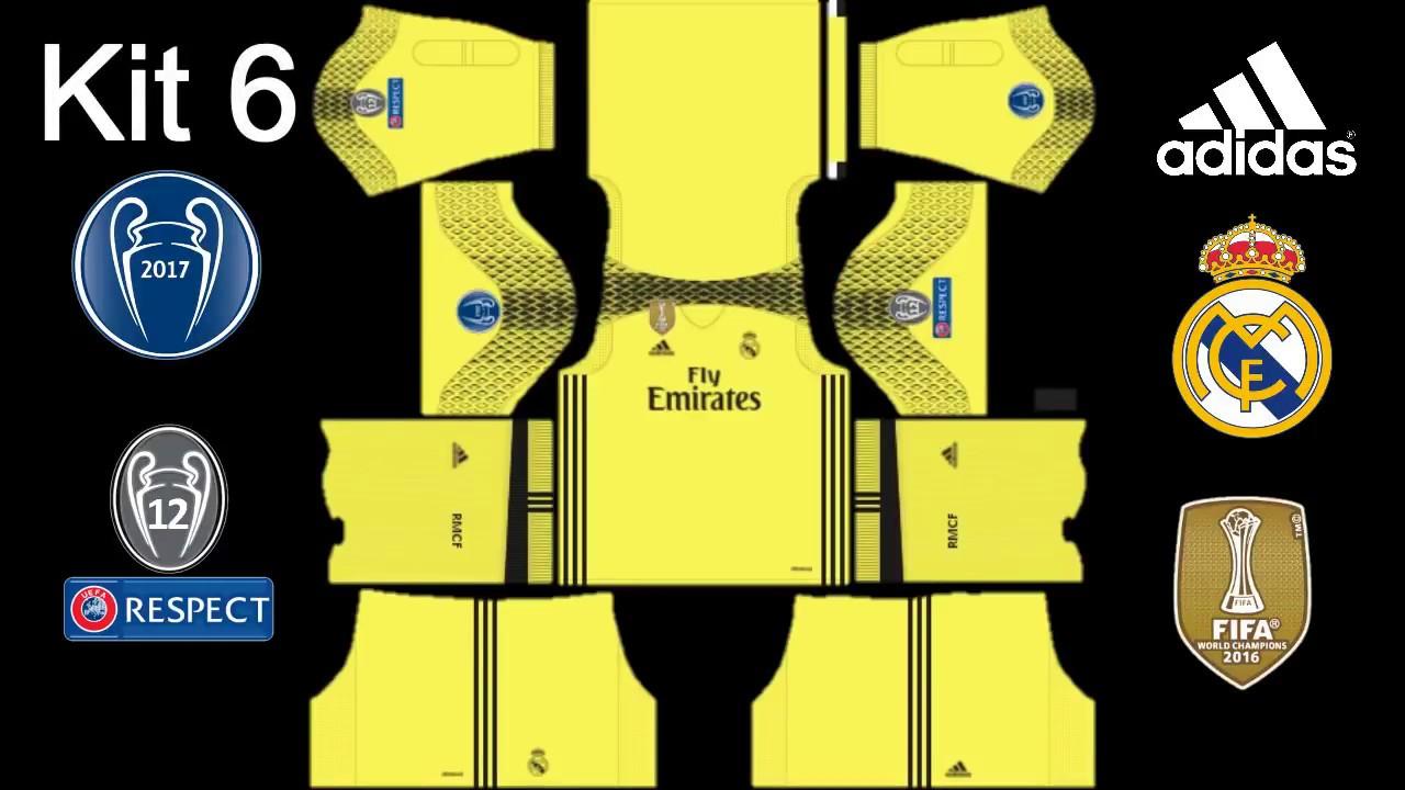 hot sales a105a be639 Dream League Soccer 2017 Real Madrid Kits 2017 2018 UEFA Champions League