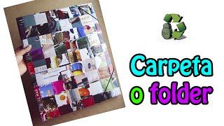 Reciclamos cartón para hacer una carpeta escolar, seguimos con el m...