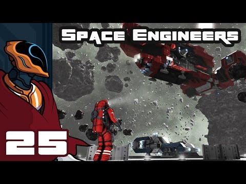 Let's Play Space Engineers Multiplayer - PC Gameplay Part 25 - Capital Ship Builder Challenge, Pt 1