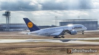lufthansa a380 d aimg touch and go leipzig halle airport