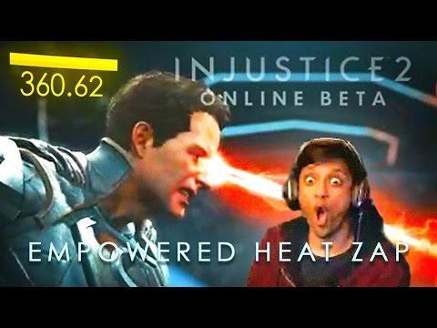 INJUSTICE 2 - Superman Unlocked Ability - Empowered Heat Zap