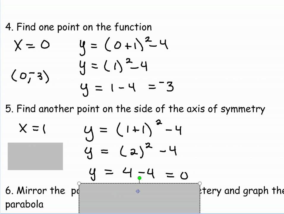 Graphing Quadratic Equations in the Vertex Form - YouTube