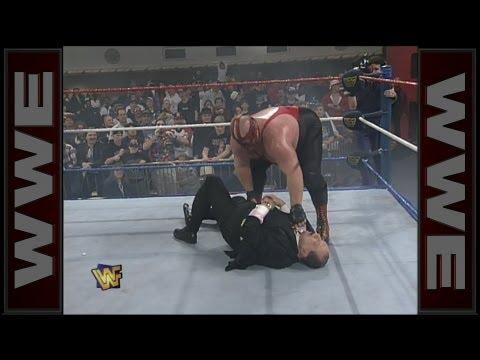 Vader attacks Gorilla Monsoon: Raw, January 22, 1996