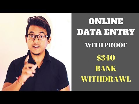 Data Entry Jobs Site - Proof I Earned $340 Bank Withdrawl