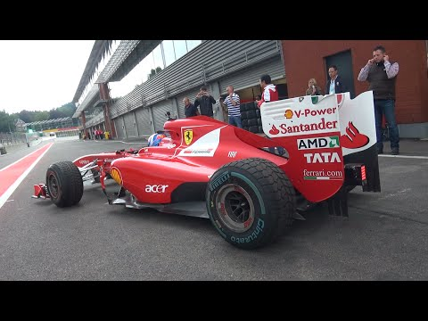 Ferrari F1 F150 - V8 Engine Sounds [Ex Fernando Alonso F1 Car]