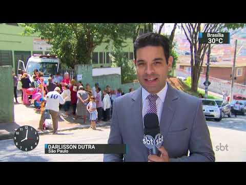 SP aumenta número de postos para imunização contra febre amarela | SBT Brasil (25/10/17)