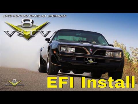 1978 Pontiac Trans Am FAST EZ EFI Fuel Injection Overdrive Engine Upgrades V8TV V8 Speed & Resto