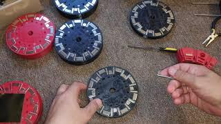 Магнитный Двигатель - прототип - секции ротора готовы к сборке и монтажу на вал