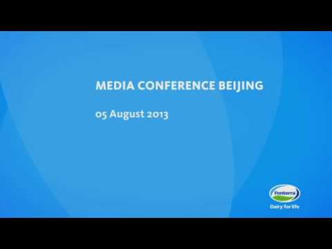 Whey Protein Recall: 5 August 2013 Beijing media conference