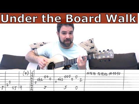 Fingerstyle Tutorial: Under the Boardwalk [FULL Instrumental] - Guitar Lesson w/ TAB