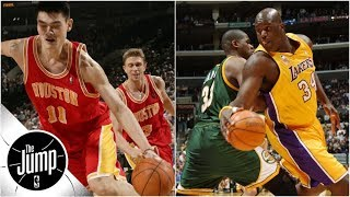 Shaquille O\'Neal, Yao Ming and the best crossovers by big men ever   The Jump