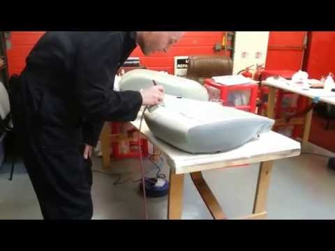 Leather repair spraying jaguar seats, training