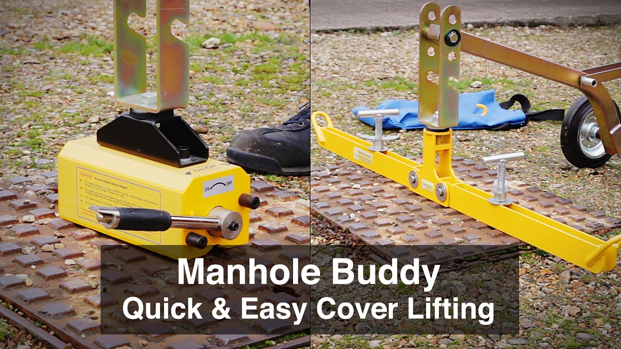 Manhole buddy lifter for easy lifting youtube