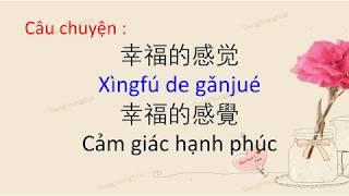 Tiếng Trung 518 - Học tiếng Trung qua những câu chuyện hay - Tập 12 Cảm giác hạnh phúc