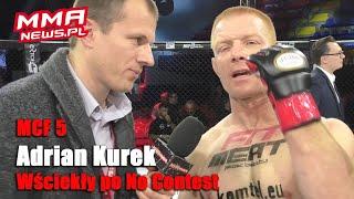 Niedosyt w walce wieczoru po przypadkowym palcu w oko Adriana Kurka | MCF 5