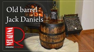 Old barrel Jack Daniels restoration. Jak zrenovovat starý sud.