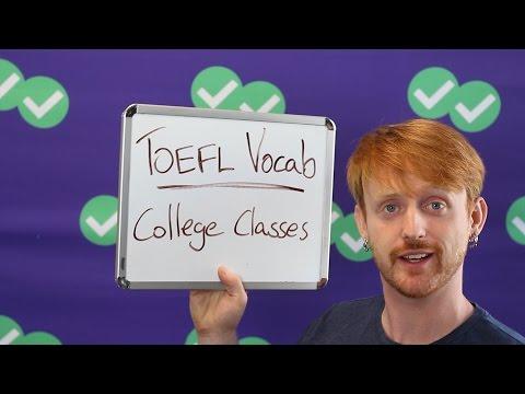 TOEFL Tuesday: Vocabulary - College Class Words