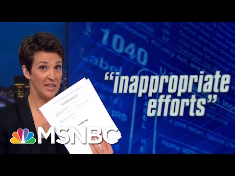 House: Whistleblower Alleges Undue Influence On Trump Tax Audit | Rachel Maddow | MSNBC