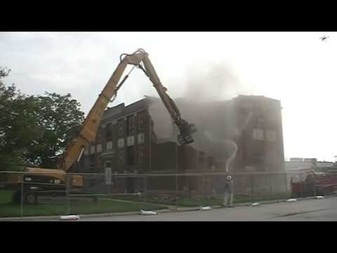 1927 Pleasant Plains High School Building Demolition ** The Old Fashion Way