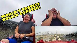 Riding The World's Fastest Roller Coaster! Formula Rossa - Ferrari World Abu Dhabi