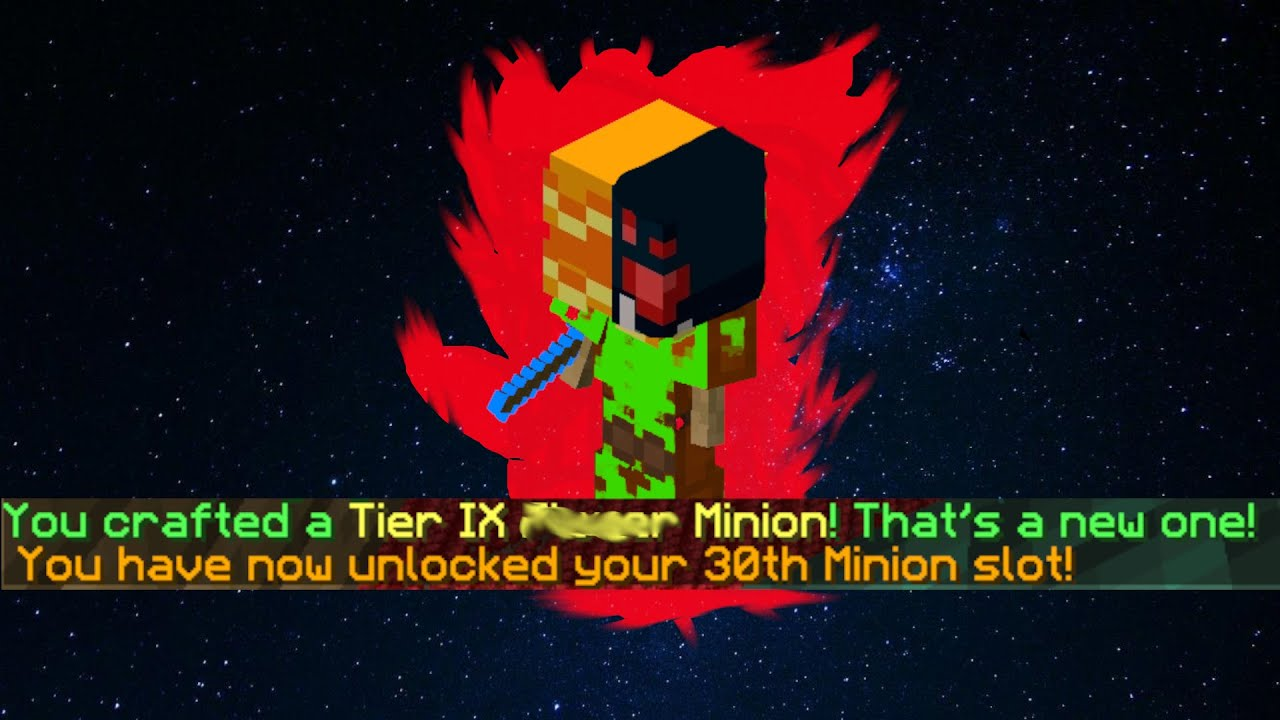 The 30th Minion Slot (Hypixel Skyblock)