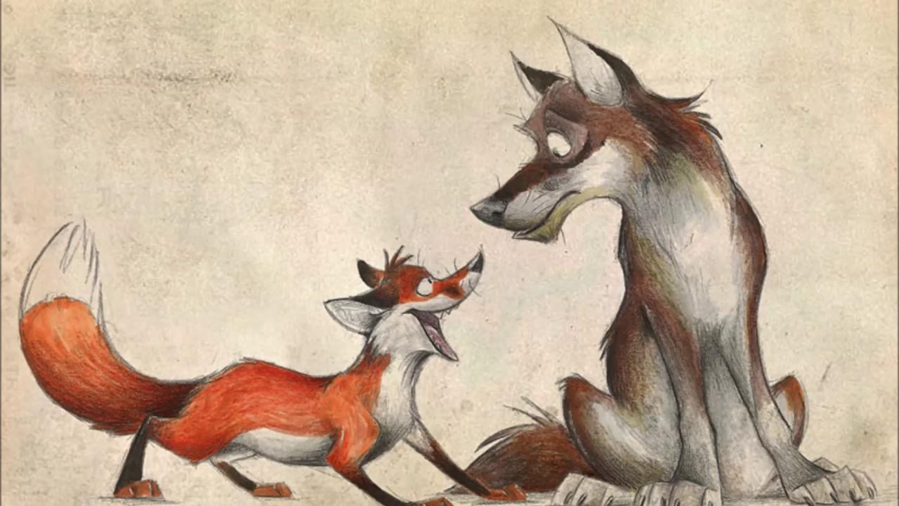 волк с лисой прикольные картинки гость