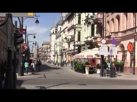 Piotrkowska street - Lodz Poland 2013 - Tourist Attractions