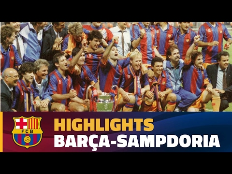 European Cup Final 1992 I Highlights FC Barcelona - UC Sampdoria (1-0)