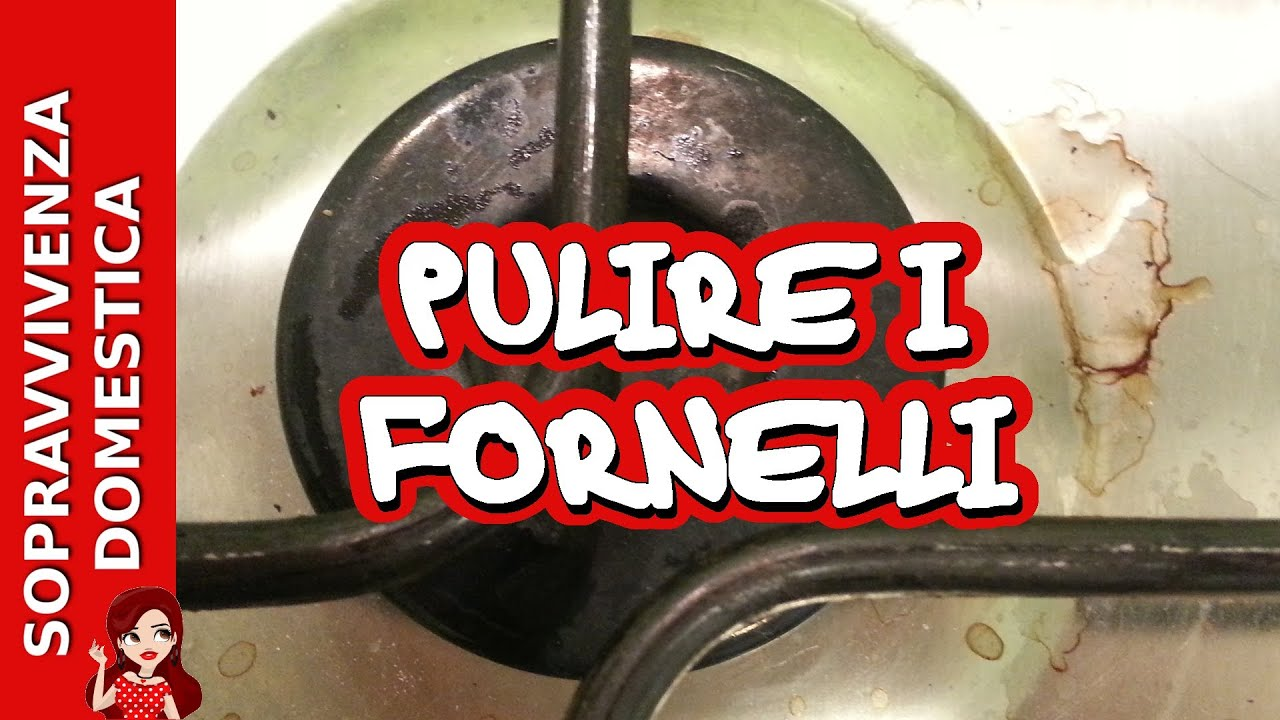 Come Pulire Il Piano Cottura pulire il piano cottura e i fornelli con aceto e bicarbonato