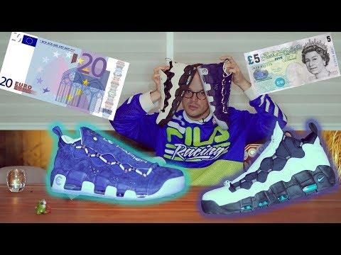 Nike Air More Money Euro en Pound unboxing en On Feet! - MAN CAVE