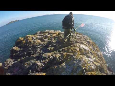 Extreme fishing spot - Howth cliffs, Ireland - GoPro4 eye view