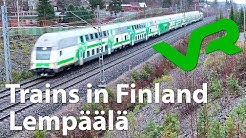 Trains in Finland | Lempäälä rautatieasema | VR Finnish Railways | 15-12-2019