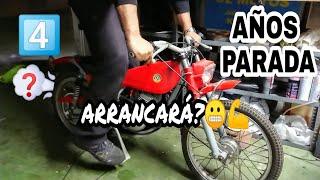 4️⃣ARRANCARÁ Moto infantil BULTACO CHISPA parada hace años? Old Motorcycle Starting Up