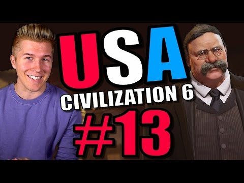 Civilization 6 Gameplay [Civ 6 America Let's Play] USA - Part 13 | Full Leader Playthrough! |