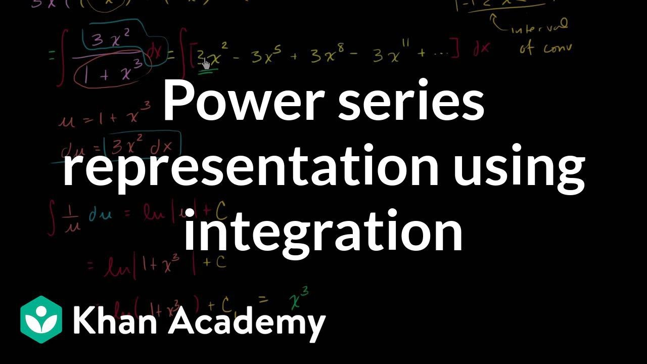 Power series of ln(1+x³) (video) | Khan Academy