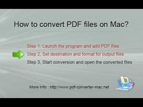 How to Convert PDF to Word/Excel/PPT/ePub/HTML/RTF/Text/Image? [PDF  Converter : Mac]
