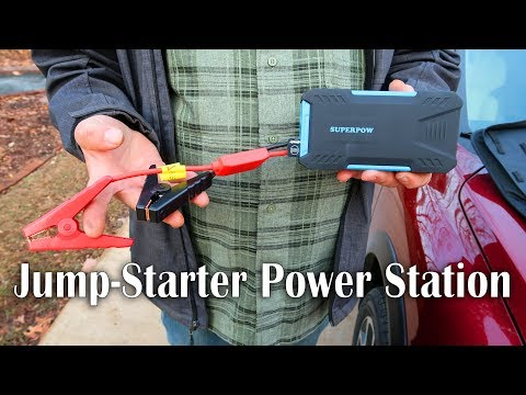 👀 SUPERPOW CAR JUMP STARTER POWER STATION (Battery Booster)  REVIEW 👈