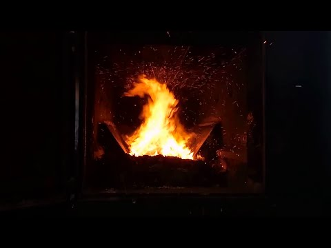 Obadiah's: The Glenwood 7070 Multi-Fuel Biomass Boiler - Review And Firebox In Action