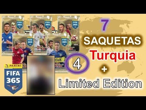 7 Saquetas porreiras da TURQUIA + LIMITED nr. 4 - FIFA 365 Adrenalyn XL