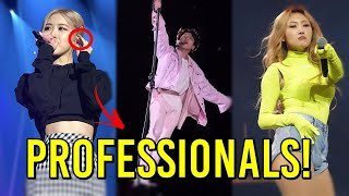 KPOP MOST PROFESSIONAL MOMENTS ON STAGE (BLACKPINK, BTS, MAMAMOO, TWICE, ATEEZ...)