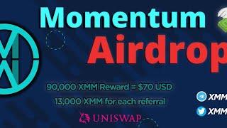 MOMENTUM XXM 100$ AIRDROP ll ALREADY LISTED COINGECKO,COINMARKET CAP ll