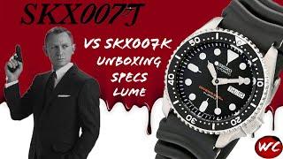 Seiko SKX007J vs SKX007K, Unboxing, and Specs (SKX007, SKX009)